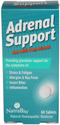 Adrenal Support, 60 Tablets by NatraBio, 補充劑,腎上腺支持 HK 香港