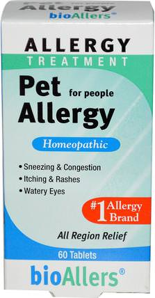 bioAllers, Allergy Treatment, Pet Allergy for People, 60 Tablets by NatraBio, 健康,過敏,過敏 HK 香港