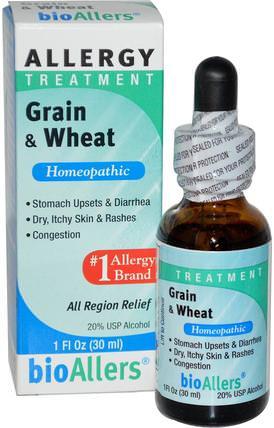 NatraBio, BioAllers, Grain & Wheat, Allergy Treatment, 1 fl oz (30 ml) 健康,過敏,過敏