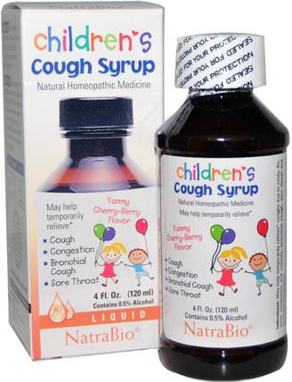 Childrens Cough Syrup, Yummy Cherry-Berry Flavor, 4 fl oz (120 ml) by NatraBio, 兒童健康,感冒感冒咳嗽 HK 香港