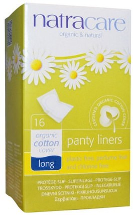 Organic & Natural Panty Liners, Long, 16 Liners by Natracare, 健康,女人,女人 HK 香港