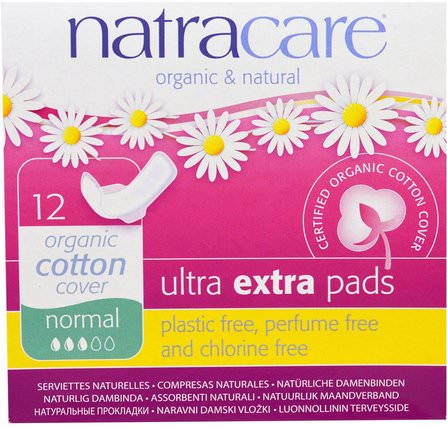 Organic & Natural, Ultra Extra Pads, Normal, 12 Pads by Natracare, 洗澡,美容,女人,natracare超墊 HK 香港