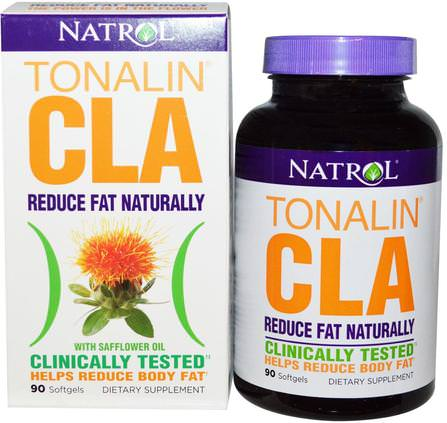 Tonalin CLA with Safflower Oil, 90 Softgels by Natrol, 減肥,飲食,cla(共軛亞油酸) HK 香港