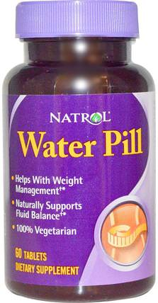 Water Pill, 60 Tablets by Natrol, 草藥,buchu,利尿劑水丸 HK 香港