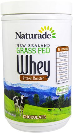 New Zealand Grass Fed Whey Protein Booster, Chocolate, 17.8 oz (504 g) by Naturade, 補充劑,乳清蛋白 HK 香港