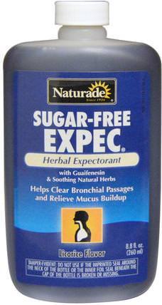 Naturade, Sugar-Free Expec, Licorice Flavor, 8.8 fl oz (260 ml) 健康,肺和支氣管,補充劑,癒創甘油醚