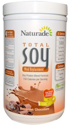Total Soy, Meal Replacement, Bavarian Chocolate, 17.88 oz (507 g) by Naturade, 補充劑,豆製品 HK 香港