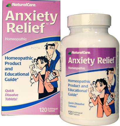 Anxiety Relief, 120 Sublingual Tablets by Natural Care, 健康,焦慮 HK 香港