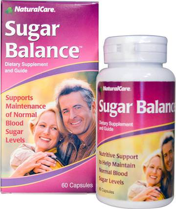 Sugar Balance, 60 Capsules by Natural Care, 健康,血糖 HK 香港