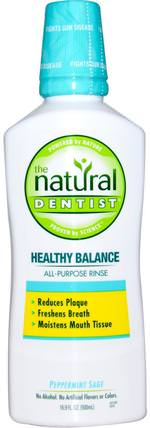 Healthy Balance, All-Purpose Rinse, Peppermint Sage, 16.9 fl oz (500 ml) by Natural Dentist, 洗澡,美容,口腔牙齒護理,漱口水 HK 香港