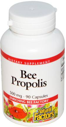 Bee Propolis, 250 mg, 90 Capsules by Natural Factors, 補充劑,蜂產品,蜂膠 HK 香港