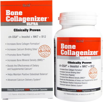 Biosil, Bone Collagenizer Ultra, 120 Vegetarian Capsules by Natural Factors, 健康,骨骼,骨質疏鬆症,補品,礦物質,biosil HK 香港