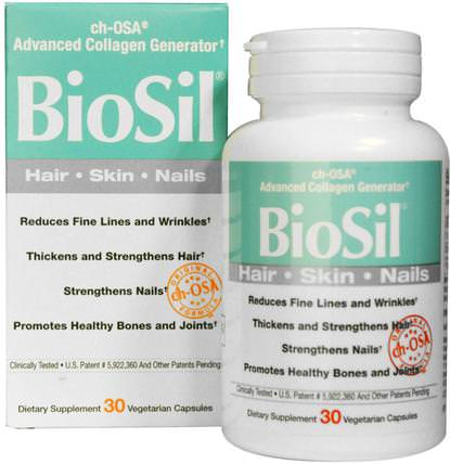 BioSil, ch-OSA Advanced Collagen Generator, 30 Vegetarian Capsules by Natural Factors, 健康,骨骼,骨質疏鬆症,膠原蛋白,補品,礦物質,矽膠(矽) HK 香港