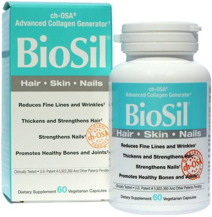 BioSil, ch-OSA Advanced Collagen Generator, 60 Vegetarian Capsules by Natural Factors, 健康,骨骼,骨質疏鬆症,膠原蛋白,補品,礦物質,矽膠(矽) HK 香港