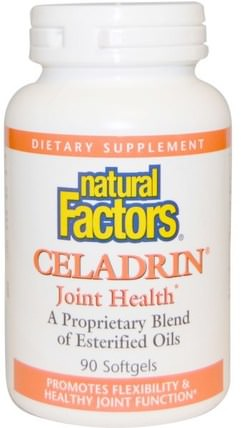 Celadrin, Joint Health, 90 Softgels by Natural Factors, 健康,骨骼,骨質疏鬆症,關節健康,炎症,青瓷 HK 香港