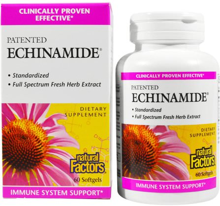 Echinamide, 60 Softgels by Natural Factors, 補充劑,抗生素,紫錐花 HK 香港