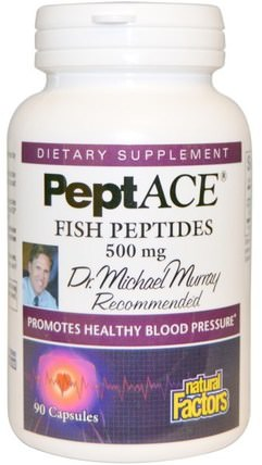 PeptACE, Fish Peptides, 500 mg, 90 Capsules by Natural Factors, 健康,血壓 HK 香港