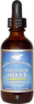 Colloidal Silver, 250 ppm, 2 fl oz (60 ml) by Natural Path Silver Wings, 補充劑,膠體銀 HK 香港