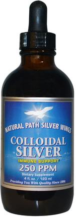 Colloidal Silver, 250 ppm, 4 fl oz (120 ml) by Natural Path Silver Wings, 補充劑,膠體銀 HK 香港
