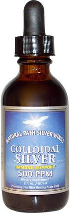 Colloidal Silver, 500 PPM, 2 fl oz (60 ml) by Natural Path Silver Wings, 補充劑,膠體銀 HK 香港