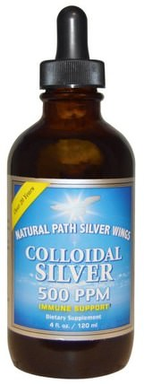 Colloidal Silver, 500 ppm, 4 fl oz (120 ml) by Natural Path Silver Wings, 補充劑,膠體銀 HK 香港