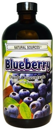 Blueberry Drink Concentrate, Naturally Sweetened, 16 fl oz (480 ml) by Natural Sources, 食品,咖啡茶和飲料,果汁 HK 香港