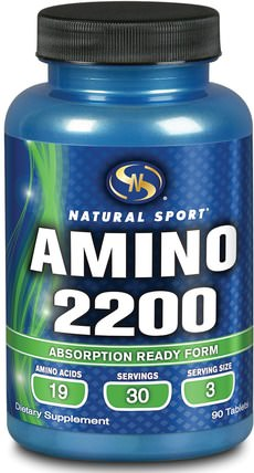 Amino 2200, 90 Tablets by Natural Sport, 補充劑,氨基酸,氨基酸組合 HK 香港