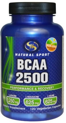 BCAA 2500, 120 Veggie Caps by Natural Sport, 補充劑,氨基酸,bcaa(支鏈氨基酸) HK 香港