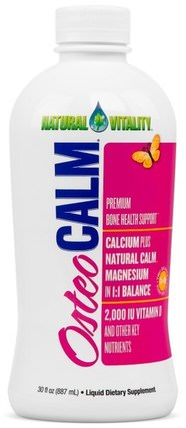 Osteo Calm, Premium Bone Health Support, 30 fl oz (887 ml) by Natural Vitality, 補品,礦物質,鈣,健康,骨骼 HK 香港