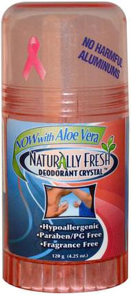 Deodorant Crystal, Fragrance Free, 4.25 oz (120 g) by Naturally Fresh, 洗澡,美容,除臭石頭 HK 香港
