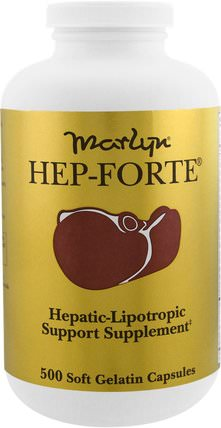 Marlyn, Hep-Forte, 500 Soft Gelatin Capsules by Naturally Vitamins, 健康,肝臟支持 HK 香港