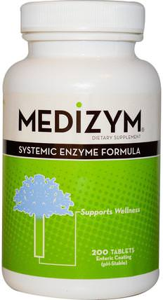 Medizym, Systemic Enzyme Formula, 200 Tablets by Naturally Vitamins, 補充劑,酶,蛋白水解酶 HK 香港