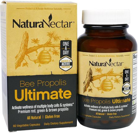 Bee Propolis Ultimate, 60 Veggie Caps by NaturaNectar, 補充劑,蜂產品,蜂膠 HK 香港