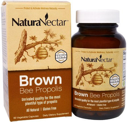 Brown Bee Propolis, 60 Veggie Caps by NaturaNectar, 補充劑,蜂產品,蜂膠 HK 香港