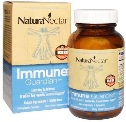 Immune Guardian, 30 Veggie Caps by NaturaNectar, 補充劑,蜂產品,蜂膠,健康,感冒和病毒,免疫系統 HK 香港