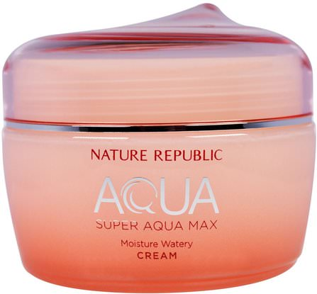 Aqua, Super Aqua Max, Moisture Watery Cream, 2.70 fl oz (80 ml) by Nature Republic, 美容,面部護理 HK 香港
