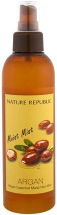 Argan Essential Moist Hair Mist, 7.44 fl oz (220 ml) by Nature Republic, 洗澡,美容,頭髮,頭皮 HK 香港