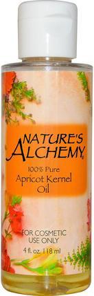 Apricot Kernel Oil, 4 fl oz (118 ml) by Natures Alchemy, 健康,皮膚,按摩油,杏仁油 HK 香港