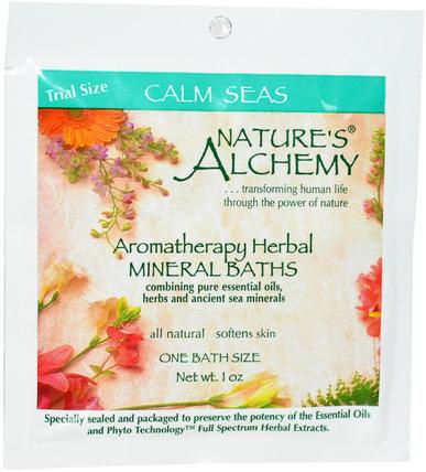 Aromatheraphy Herbal Mineral Baths, Calm Seas, Trial Size, 1 oz by Natures Alchemy, 洗澡,美容,浴鹽 HK 香港