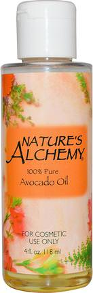 Avocado Oil, Fragrance Free, 4 fl oz (118 ml) by Natures Alchemy, 健康,皮膚,鱷梨油 HK 香港