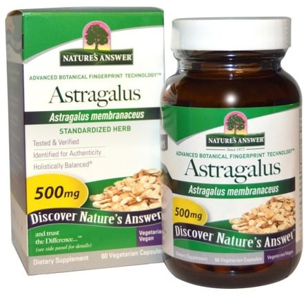 Astragalus, 500 mg, 60 Vegetarian Capsules by Natures Answer, 健康,感冒和病毒,黃芪,補品,adaptogen HK 香港