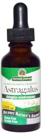 Astragalus, Alcohol-Free, 2.000 mg, 1 fl oz (30 ml) by Natures Answer, 健康,感冒和病毒,黃芪液,補品,adaptogen HK 香港