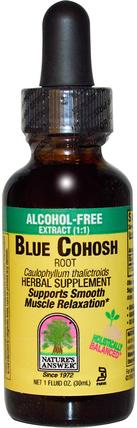 Blue Cohosh, 1.000 mg, 1 fl oz (30 ml) by Natures Answer, 健康,婦女,黑升麻,藍升麻 HK 香港