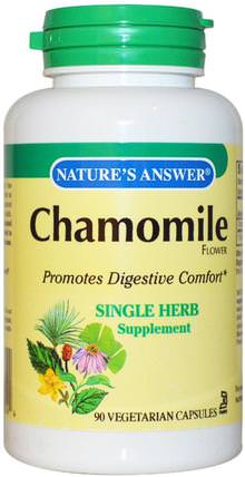 Chamomile, 650 mg, 90 Veggie Caps by Natures Answer, 草藥,洋甘菊 HK 香港