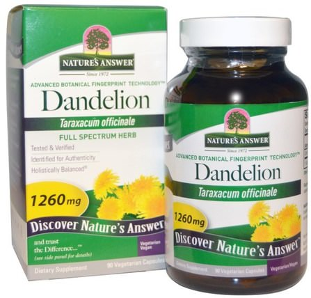 Dandelion, 1260 mg, 90 Vegetarian Capsules by Natures Answer, 草藥,蒲公英根 HK 香港