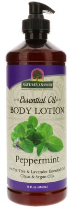 Essential Oil, Body Lotion, Peppermint, 16 fl oz (474 ml) by Natures Answer, 健康,皮膚,潤膚露 HK 香港