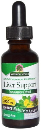 Liver Support, Alcohol-Free, 2000 mg, 1 fl oz (30 ml) by Natures Answer, 健康,肝臟支持 HK 香港