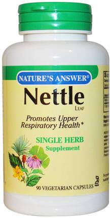 Nettle, 900 mg, 90 Vegetarian Capsules by Natures Answer, 草藥,蕁麻刺痛 HK 香港