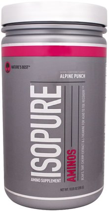 IsoPure, Aminos, Alpine Punch, 10.05 oz (285 g) by Natures Best, 補充劑,氨基酸,氨基酸組合 HK 香港
