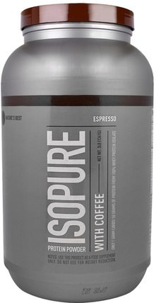 IsoPure, Protein Powder with Coffee, Espresso, 3 lb (1361 g) by Natures Best, 健康 HK 香港